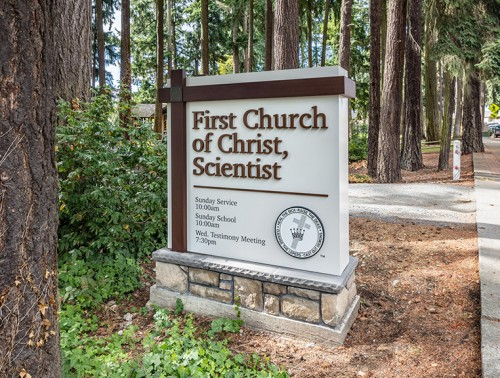 First Church of Christ, Scientist back monument