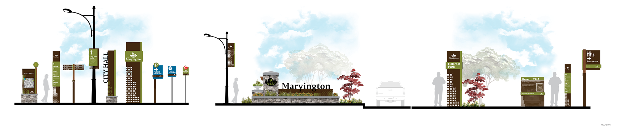 maryington city wayfinding